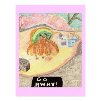 The Hermit Wants No Company Postcard