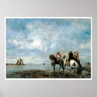 The Heron Hunt (Algeria), 1865 Eugene Fromentin Poster