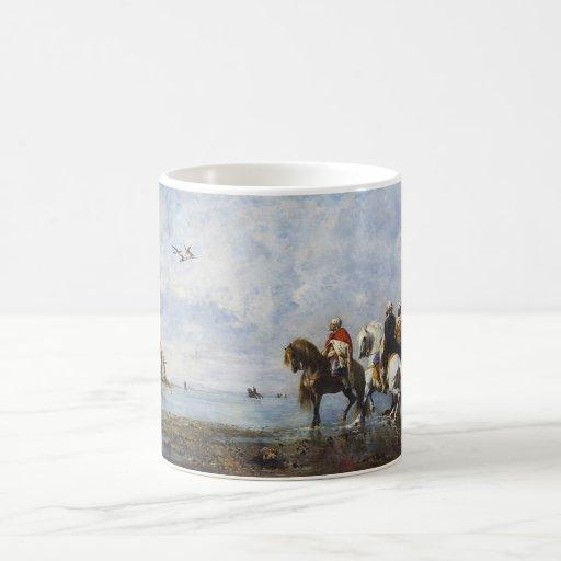 The Heron Hunt by Eugene Fromentin 1865 Mug
