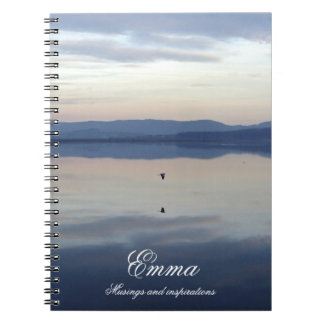 The heron, musings and inspirations personalised notebook