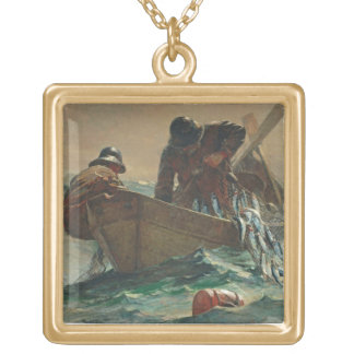 The Herring net, 1885 (oil on canvas) Custom Necklace