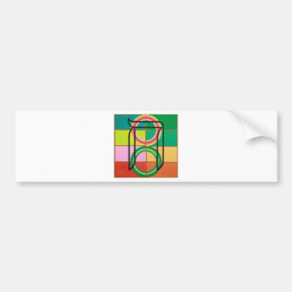 The Het Letter - Hebrew alphabet Bumper Sticker
