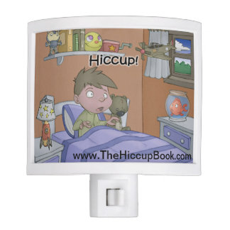 The Hiccup Book - nightlight - Sam in Bed Night Lights