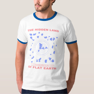 The Hidden Land of Flat Earth (1000 Year Old Map) T-Shirt