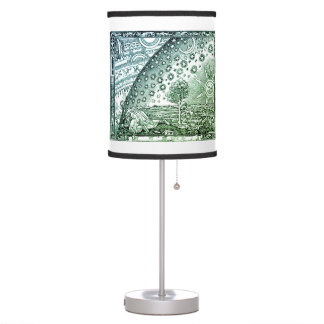 The hidden world (green) table lamp