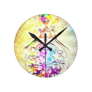 The High Priestess Round Clock
