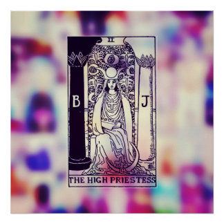 The High Priestess Tarot Card Poster