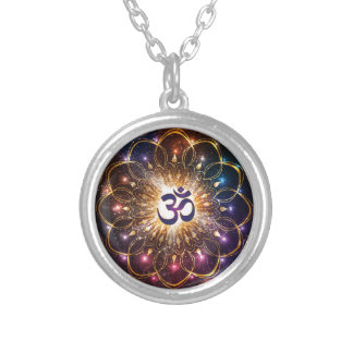 The higher power of Om Silver Plated Necklace