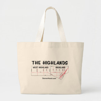 The Highlands Neighborhood Map Large Tote Bag