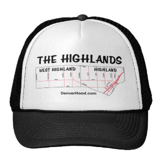 The Highlands Neighborhood Map Trucker Hat