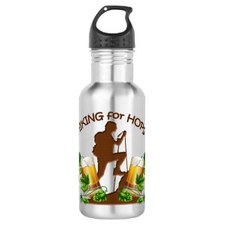 The Hiking for Hops 18 oz Water Bottle