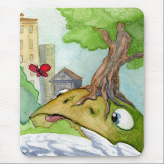 The Hill Frog and the Butterfly Mouspad Mouse Pad
