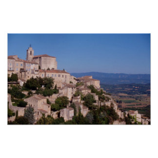 The hill top village of Gordes Poster