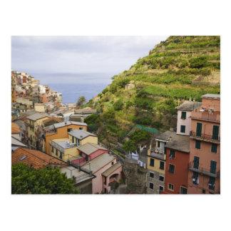 the hillside village of Manarola-Cinque Terre, Postcard