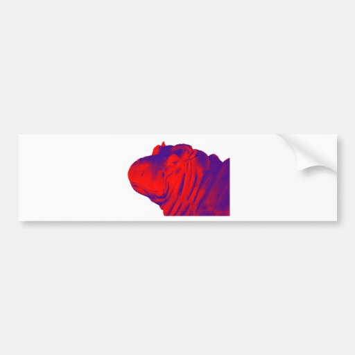 THE HIPPOS EVENING BUMPER STICKERS