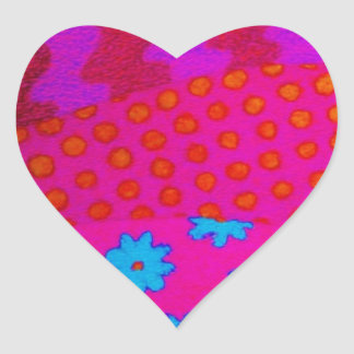 THE HIPSTER - Cool Colorful Vibrant Abstract Art Heart Sticker