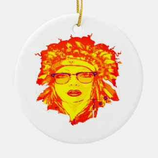THE HIPSTER IS CHRISTMAS ORNAMENT