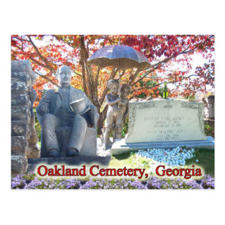 The Historic Oakland Cemetery, Atlanta, GA Postcard