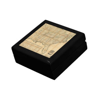 The Historical Civil War Map (1862) Jewelry Box