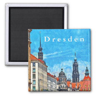 The historical part of Dresden. Magnet