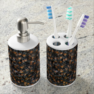 The Hive Soap Dispenser And Toothbrush Holder