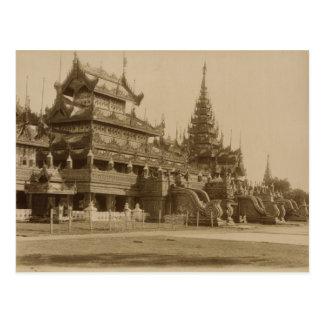 The Hman Kyaung or the glass monastery, Burma Postcard