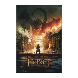 The Hobbit - Laketown Movie Poster Canvas Print