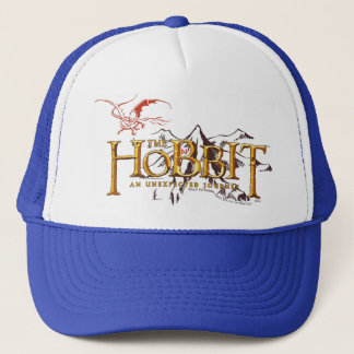 The Hobbit Logo Over Mountains Trucker Hat