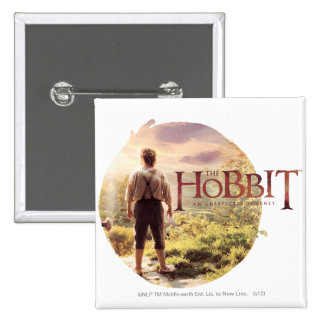 The Hobbit Logo with BAGGINS™ Back 2 Inch Square Button