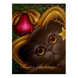 THE HOLIDAY FAIRY KITTEN CAT 2 Postcard