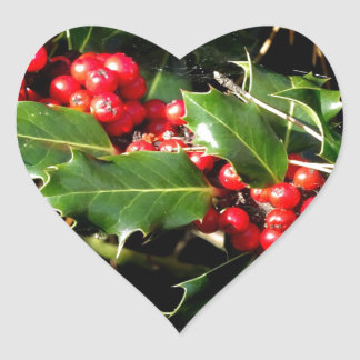 The Holly And The Ivy Heart Sticker