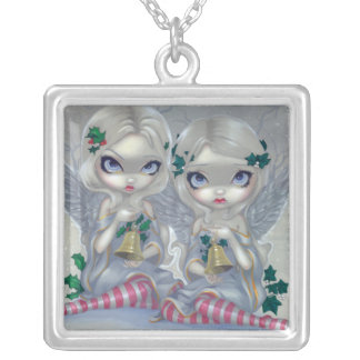 The Holly and the Ivy NECKLACE Christmas Fairy Art