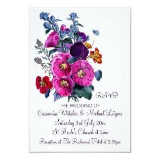 "The Hollyhocks Collection RSVP 3.5"" X 5"" Invitation Card"