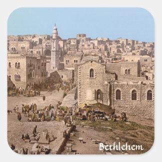 The Holy City Of Bethlehem Square Sticker