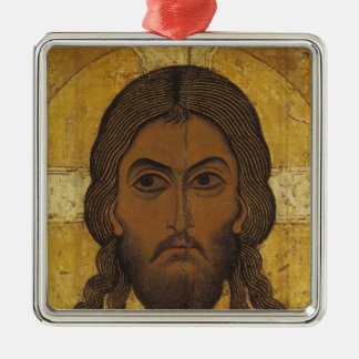 The Holy Face Silver-Colored Square Ornament