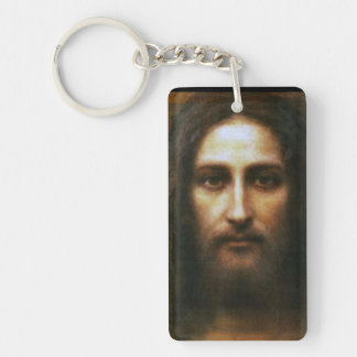 THE HOLY FACE Single-Sided RECTANGULAR ACRYLIC KEYCHAIN