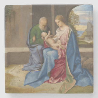 The Holy Family by Giorgione Stone Coaster
