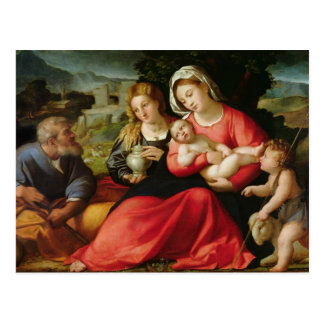 The Holy Family, c.1508-12 (oil on canvas) Postcard