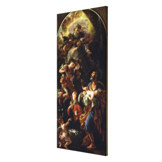 The Holy Family (oil on canvas) Canvas Print