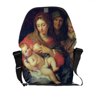 The Holy Family with Elizabeth (oil on panel) Commuter Bag