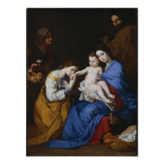 The Holy Family with Saints Anne and Catherine Poster