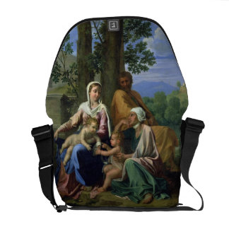 The Holy Family with SS. John, Elizabeth and the I Courier Bag