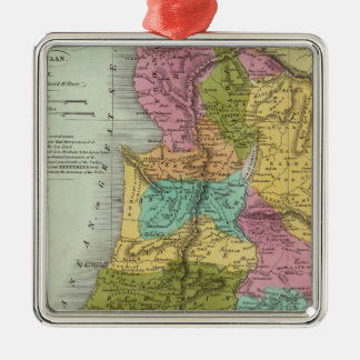 the Holy Land of Palestine Silver-Colored Square Ornament