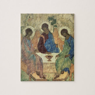 The Holy Trinity, 1420s (tempera on panel) Jigsaw Puzzle