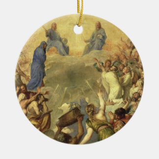 The Holy Trinity, 1553/54 (oil on canvas) Round Ceramic Ornament