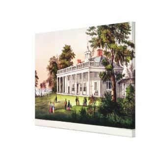 The Home of George Washington Canvas Print