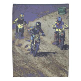 The Home Stretch! - Motocross Racer Duvet Cover