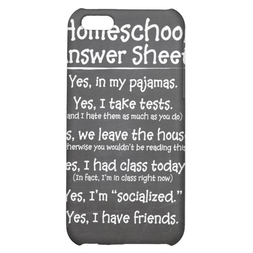 The Homeschool Answer Sheet iPhone 5C Cases