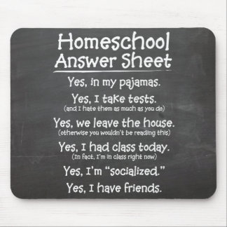 The Homeschool Answer Sheet Mouse Pads