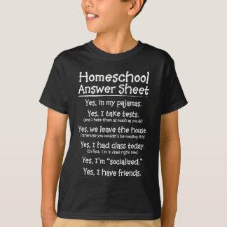 The Homeschool Answer Sheet T-shirts